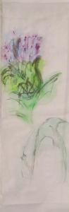 watercolour thistle