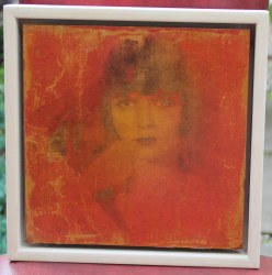 louise in red 22x22